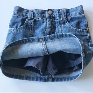 Gymboree Blue Denim Jean Skirt w/ Bloomers Skort 4